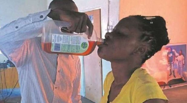 False Prophet Makes Ill Victims Drink Disinfectant for Miracle Healing