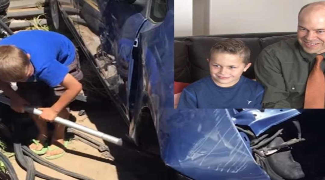 8 Year-Old Boy Lifts Car Off His Father and Says Angels Helped Him