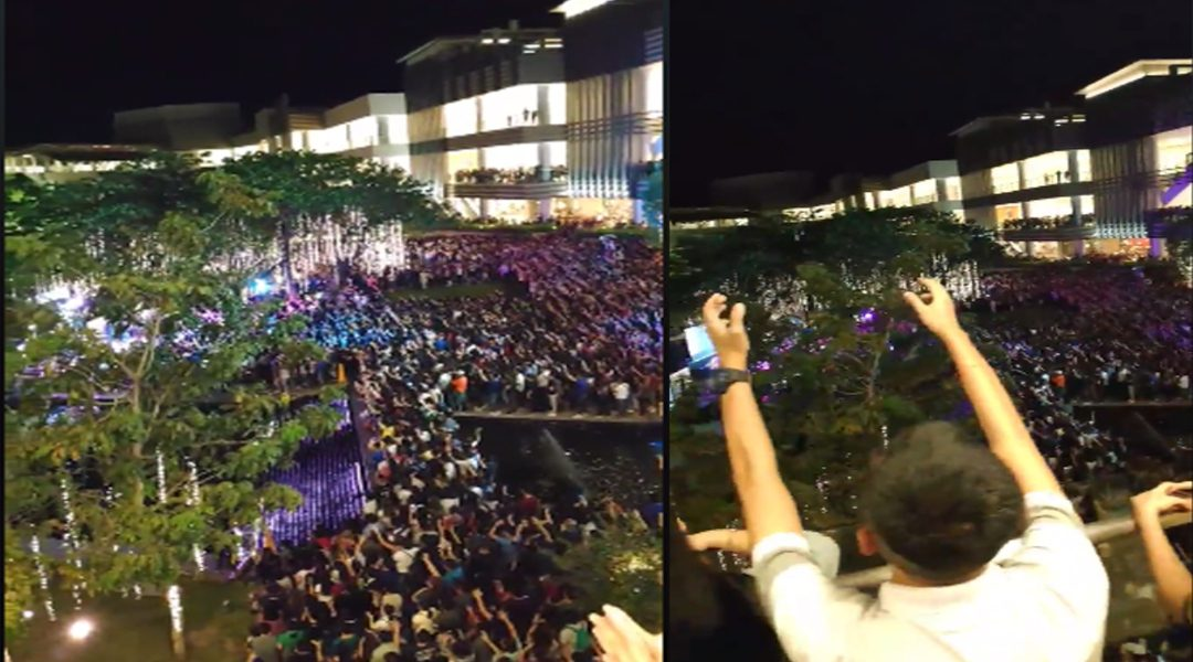 Hundreds Of People Gather To Worship God In Public At A Shopping Mall!