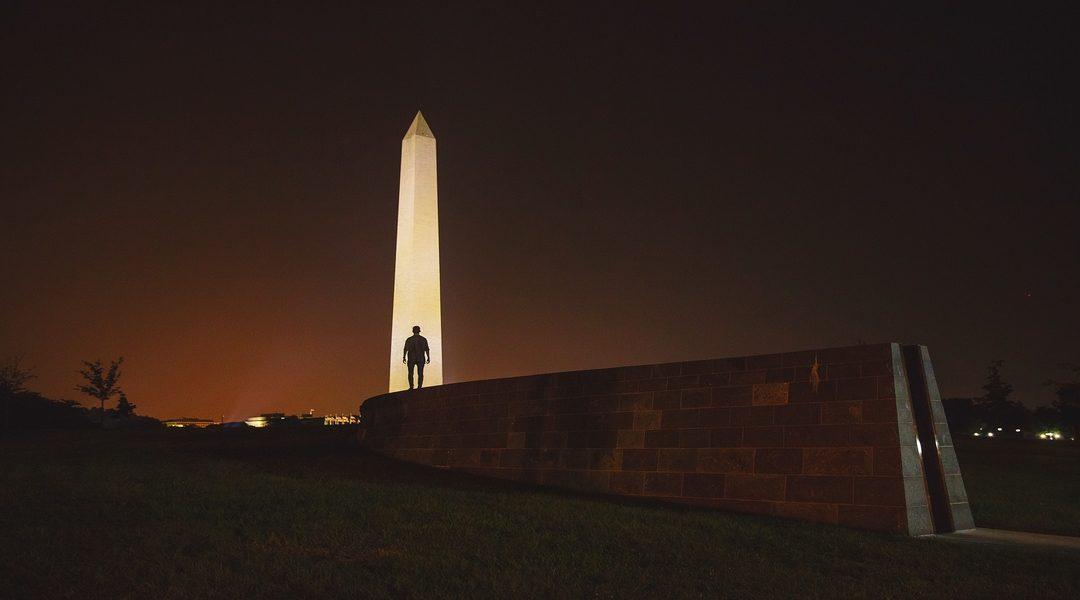 Vision  of Illuminated Washington Monument Points to Awakening